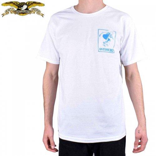 半額セール【アンタイヒーロー ANTIHERO スケボーTシャツ】LANCE DAAN TEE【ホワイト×ブルー】NO112