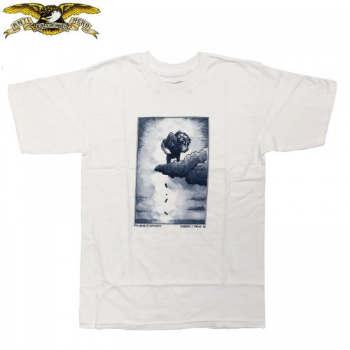 半額セール【アンタイヒーロー ANTIHERO スケボーTシャツ】BOOK OF TEE【ホワイト】NO114