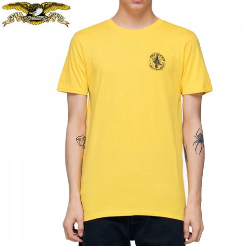 半額セール【アンタイヒーロー ANTIHERO スケボーTシャツ】FREEFORM TEE【イエロー×ブラック】NO115