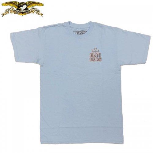半額セール【アンタイヒーロー ANTIHERO スケボーTシャツ】HERNDON BAT TEE【パウダーブルー】NO117