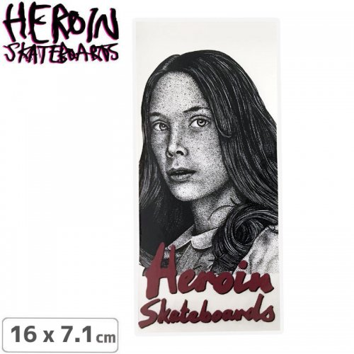 【ヘロイン HEROIN スケボー ステッカー】CRAIG QUESTIONS HOLLY STICKER 16 x 7.1cm NO48