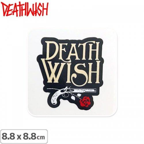 【DEATHWISH デスウィッシュ スケボー ステッカー】ONE OFF OLD GUN STICKER 8.8 x 8.8cm NO145