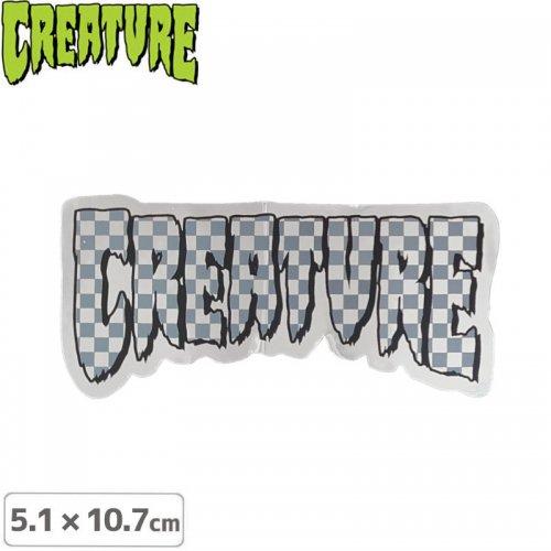 【クリーチャー CREATURE スケボー ステッカー】LOGO CHECK STICKER【5.1cmx10.7cm】NO44