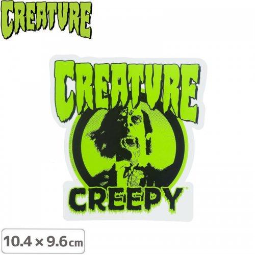 【クリーチャー CREATURE スケボー ステッカー】CREEPY STICKER【10.4cmx9.6cm】NO48