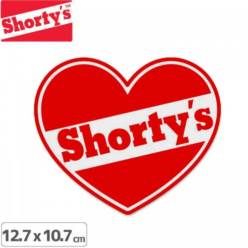 【ショーティーズ SHORTYS ステッカー】HEART LOGO STICKER 12.7 x 10.7cm NO26