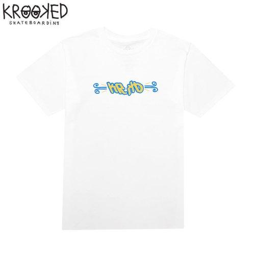 半額セール【KROOKED クルックド スケートボード Tシャツ】FLASH BACK S/S TEE【ホワイト】NO102