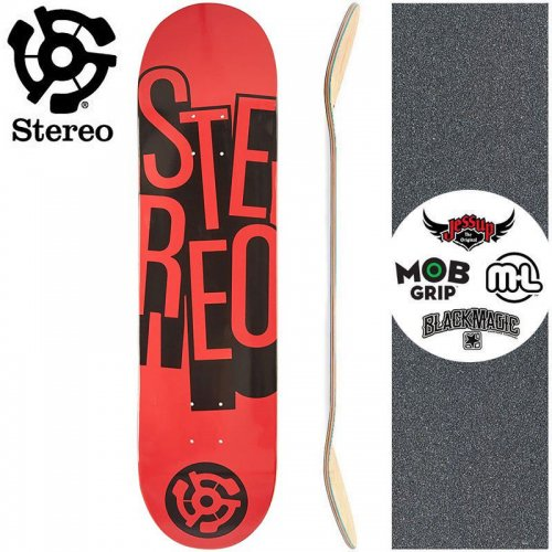 【STEREO ステレオ スケボー デッキ】STACKED RED DECK【7.7インチ】NO74