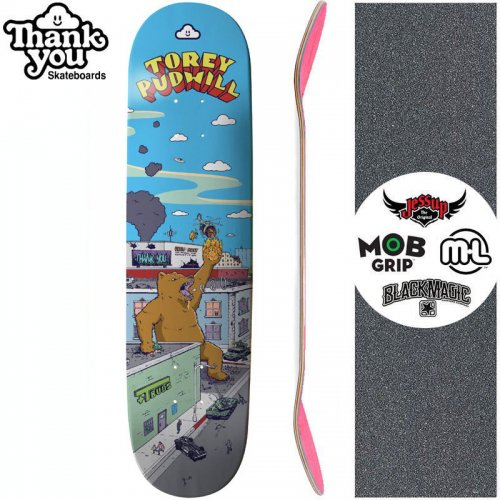 【THANK YOU SKATEBOARDS サンキュー スケボー デッキ】PUDWILL RAMPAGE DECK【7.75インチ】NO9