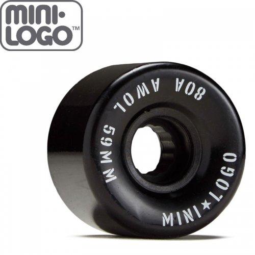 【MINI LOGO ミニロゴ スケボー クルーザー ウィール】AWOL WHEELS 80A ブラック【55mm】【59mm】NO90