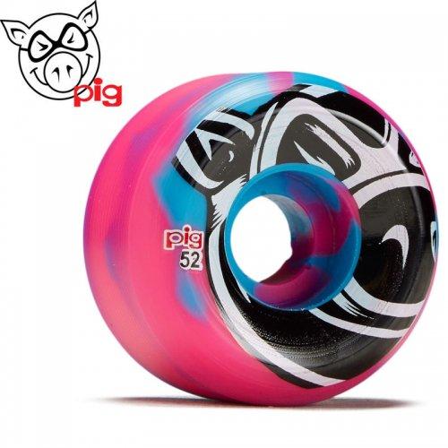 【ピッグ PIG WHEELS ウィール】HEAD SWIRL C-LINE 101A【52mm】ブルー/ピンク NO46