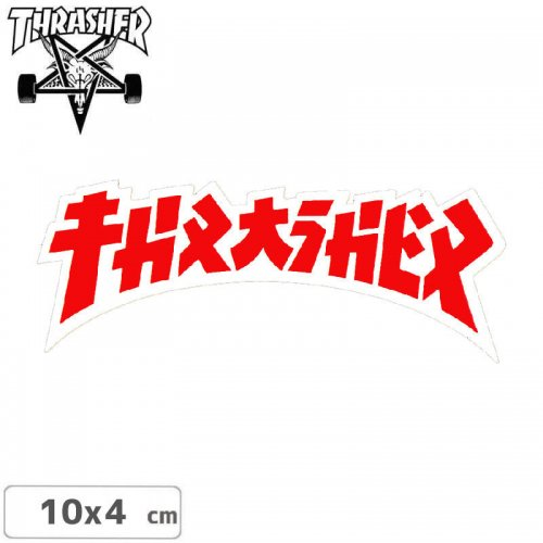 【スラッシャー THRASHER スケボー ステッカー】GODZILLA DIE CUT STICKER 10cm x 4cm NO67