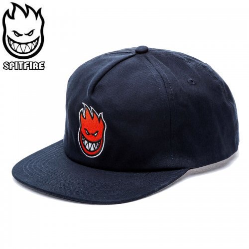 【スピットファイヤー SPITFIRE ベースボールキャップ】BIGHEAD FILL HAT ネイビー×レッド NO82