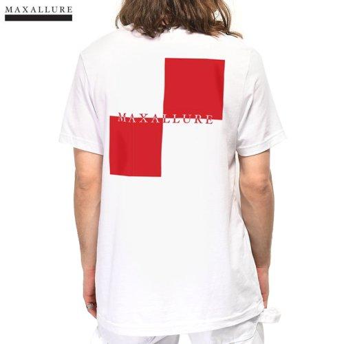 【MAXALLURE マックス アルーア スケボー Tシャツ】LET'S GO TEE【ホワイト】NO4