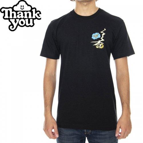 【THANK YOU サンキュー スケボー Tシャツ】STINKER TEE【ブラック】NO1