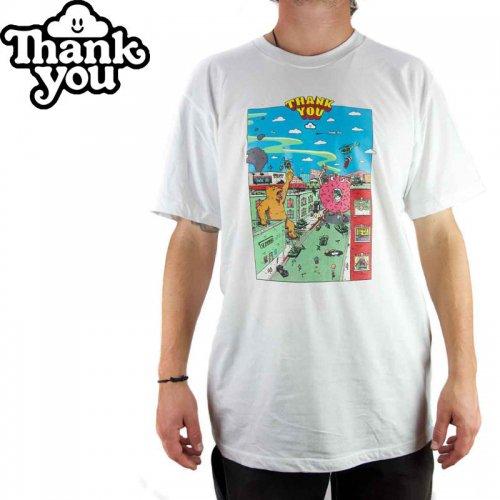 【THANK YOU サンキュー スケボー Tシャツ】RAMPAGE TEE【ホワイト】NO2