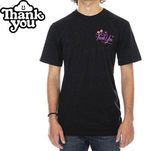 【THANK YOU サンキュー スケボー Tシャツ】DAILY ESSENTIALS TEE【ブラック】NO3