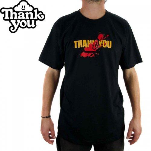 【THANK YOU サンキュー スケボー Tシャツ】REVENGE TEE【ブラック】NO4