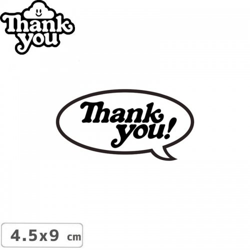 【THANK YOU サンキュー スケボー ステッカー】BUBBLE STICKER【4.5cmx9cm】NO1