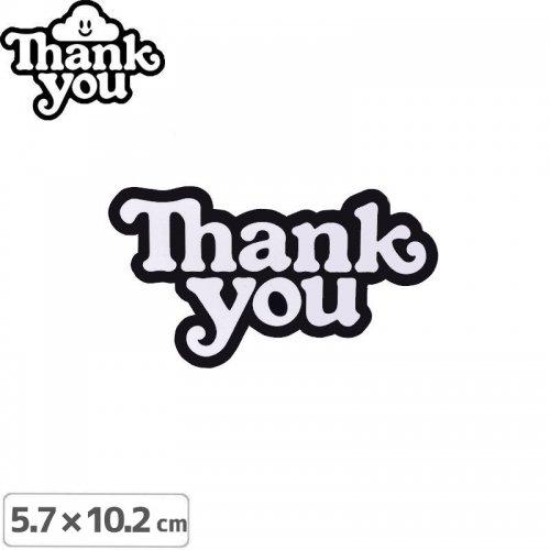 【THANK YOU サンキュー スケボー ステッカー】LOGO STICKER【5.7cmx10.2cm】NO2