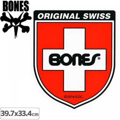 【ボーンズ BONES スケボー ステッカー】SHIELD STICKER【39.7x33.4cm】NO63