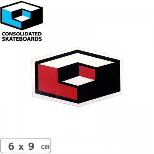 【CONSOLIDATED コンソリデーテッド スケボー ステッカー】CUBES LOGO【6cm x 9cm】NO73
