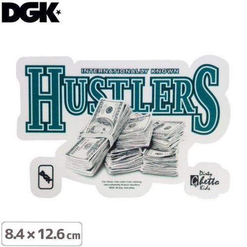 【ディージーケー DGK スケボー ステッカー】CASH STICKER【8.4cm×12.6cm】NO102
