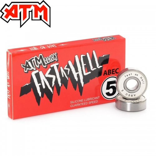 【ATM CLICK エーティーエム スケボー ベアリング】FAST AS HELL ABEC 5 BEARINGS NO1