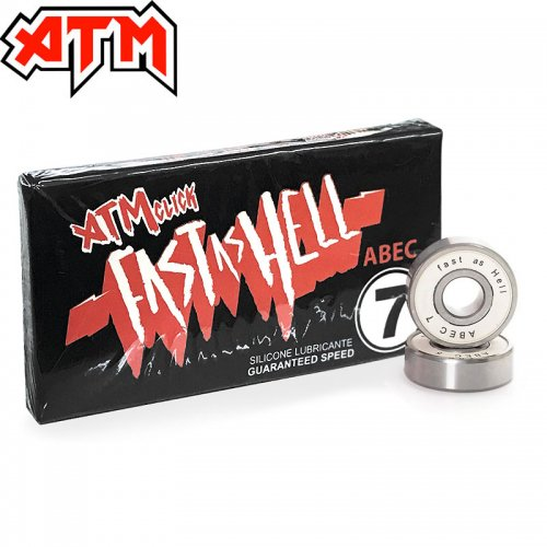 【ATM CLICK エーティーエム スケボー ベアリング】FAST AS HELL ABEC 7 BEARINGS NO2