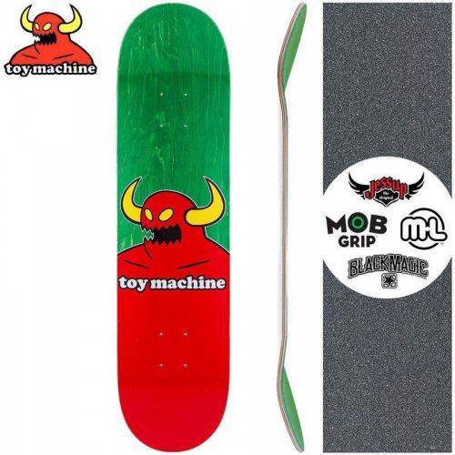 【トイマシーン TOY MACHINE キッズ デッキ】MONSTER MINI DECK【7.38インチ】グリーン NO9