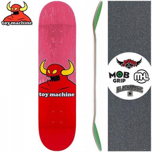 【トイマシーン TOY MACHINE キッズ デッキ】MONSTER MINI DECK【7.38インチ】ピンク NO10