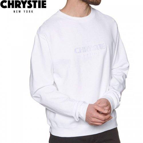 【CHRYSTIE NYC クリスティーニューヨーク スウェット】OG CREW NECK【ホワイト】NO1