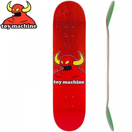 【トイマシーン TOY MACHINE キッズ デッキ】MONSTER MINI DECK[7.38インチ]レッド NO11