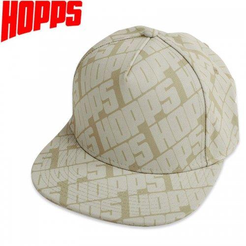 【HOPPS ホップス スケートボード キャップ】HOPPS ALL OVER SNAPBACK  CAP タン NO4