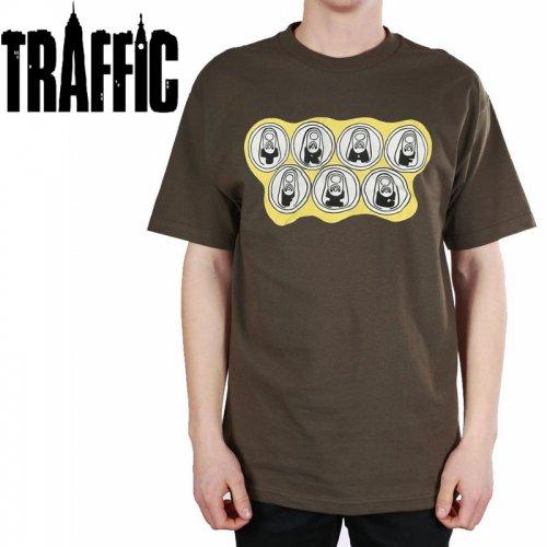 【トラフィック TRAFFIC スケボー Tシャツ】BREAKFAST OF CHAMPIONS TEE【ブラウン】NO3