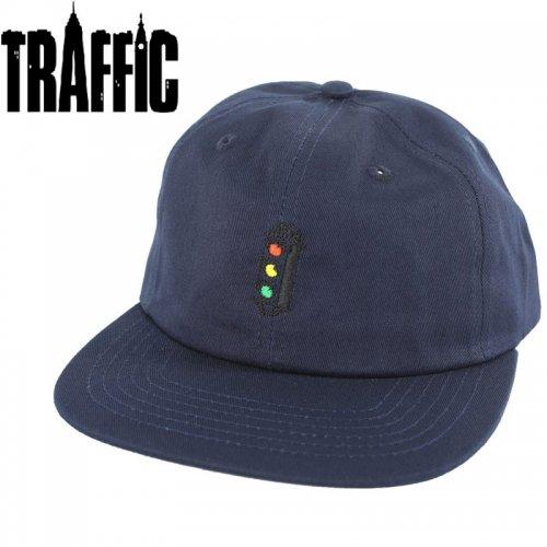 【TRAFFIC トラフィック スケボー キャップ】LIGHT SNAP BACK CAP ネイビー NO3