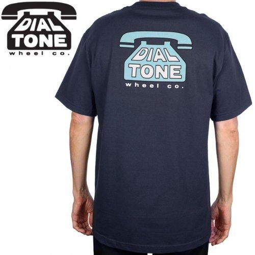 【ダイアルトーン DIAL TONE WHEELS スケボー Tシャツ】DIAL TEE【ネイビー】NO8
