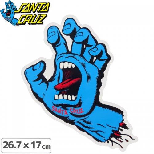 【サンタクルーズ SANTACRUZ スケボー ステッカー】SCREAMING HAND STICKER【26.7cmx17cm】NO113