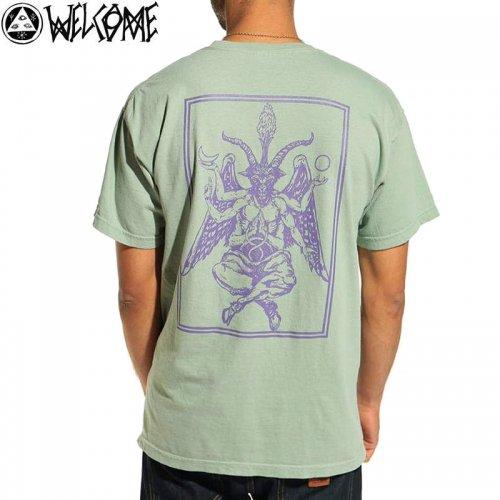 【WELCOME ウェルカム スケートボード Tシャツ】BAPHOLIT GARMENT DYED TEE【セージグリーン】NO8