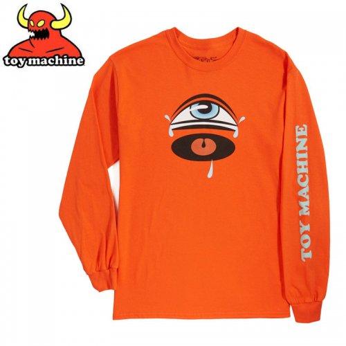 【トイマシーン TOY MACHINE スケボー ロングTシャツ】CRY SECT L/S T-SHIRT【オレンジ】NO12