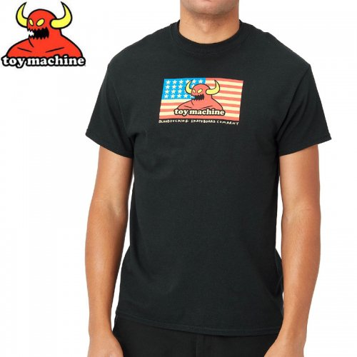 【トイマシーン TOY MACHINE スケボー Tシャツ】AMERICAN MONSTER TEE【ブラック】NO257