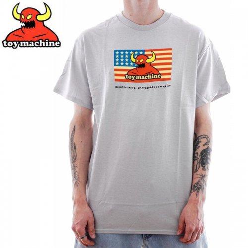 【トイマシーン TOY MACHINE スケボー Tシャツ】AMERICAN MONSTER TEE【シルバー】NO258