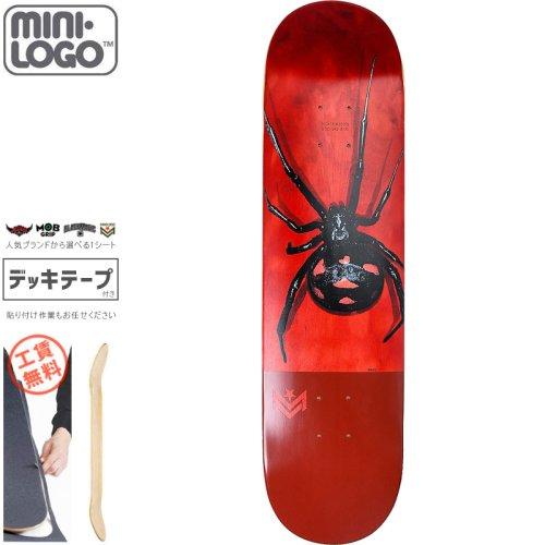【MINI-LOGO ミニロゴ スケボー デッキ】16 BLACK WIDOW DECK【7.5インチ】【8.0インチ】【8.5インチ】NO6