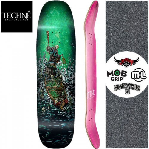 【TECHNE テクネ スケートボード デッキ】BOATMAN ON THE RIVER STYX SHAPED DECK【8.625インチ】NO2