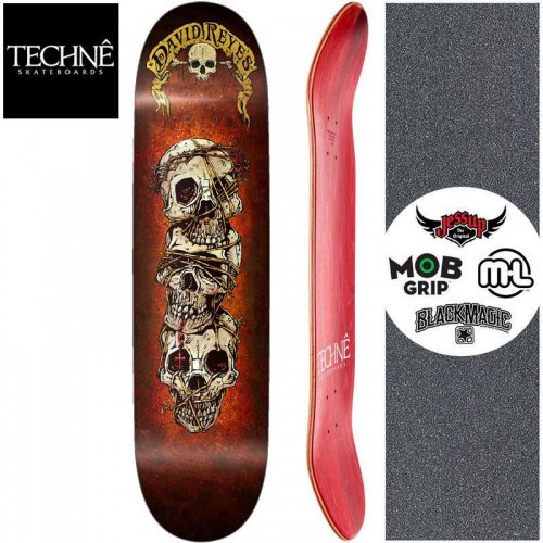 【TECHNE テクネ スケートボード デッキ】DAVID REYES THE TIES THAT BIND PRO MODEL DECK【7.75インチ】NO5
