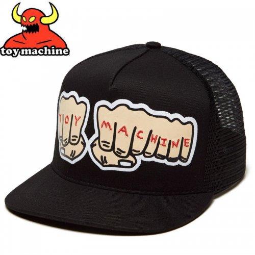 【TOY MACHINE トイマシーン スケボー キャップ】FISTS MESH SNAPBACK HAT ブラック NO47