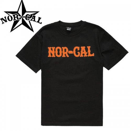 【ノーカル NOR CAL スケボー Tシャツ】TRUE  NORTH TEE【ブラック×オレンジ】NO7