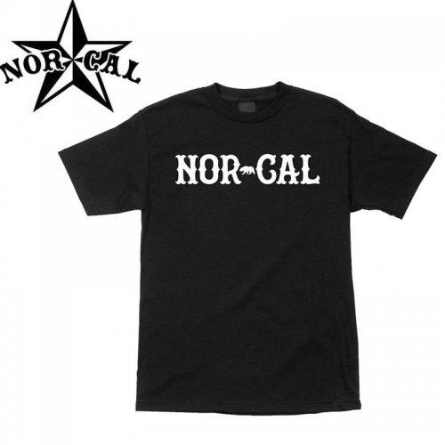 【ノーカル NOR CAL スケボー Tシャツ】TRUE  NORTH TEE【ブラック×ホワイト】NO8