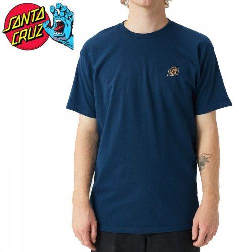 【サンタクルズ SANTA CRUZ スケボー Tシャツ】WORK HAND S/S TEE【クールブルー】NO124