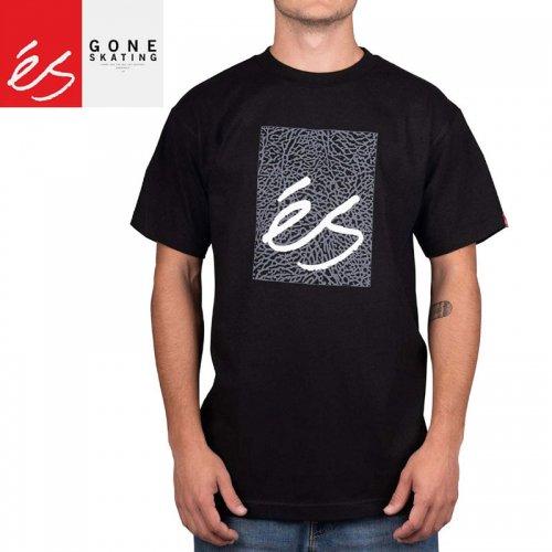 【エススケートボード ES FOOTWEAR スケボー Tシャツ】MAIN BLOCK TEE【ブラック】NO37