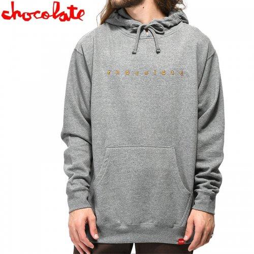 【チョコレート CHOCOLATE スケボー パーカー】COMIC PULLOVER HOODIE【ヘザーグレー】NO39